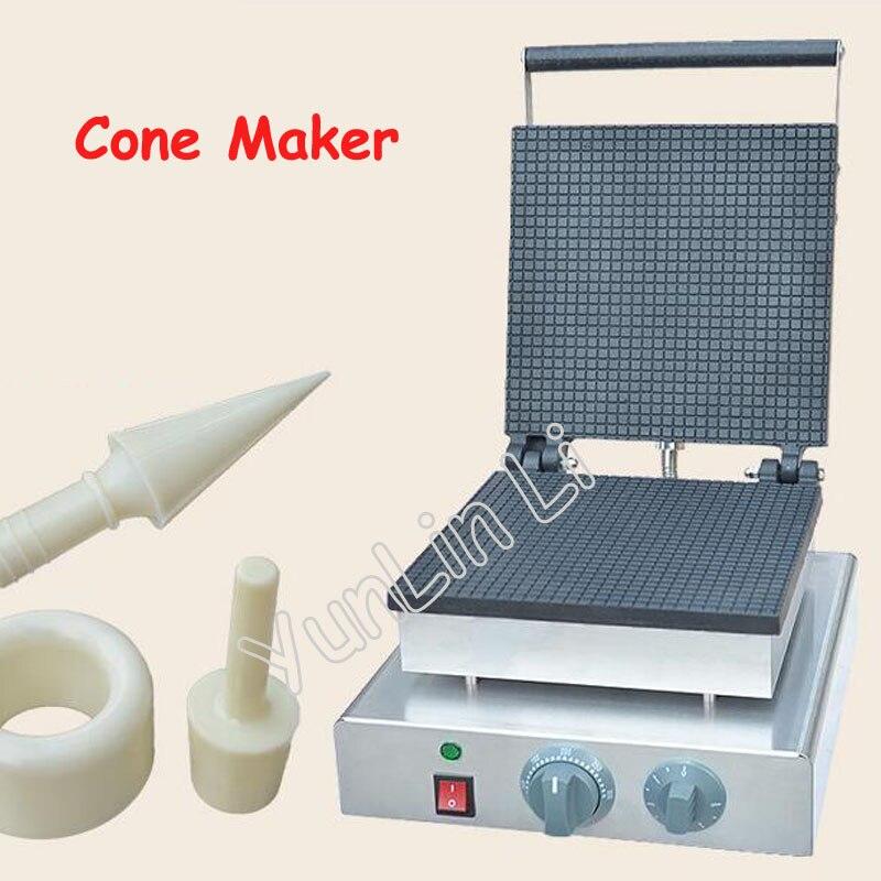 Квадратная форма конус для мороженого электрическая вафельница коммерческое устройство для приготовления Рожков яйцо конус машинка для р