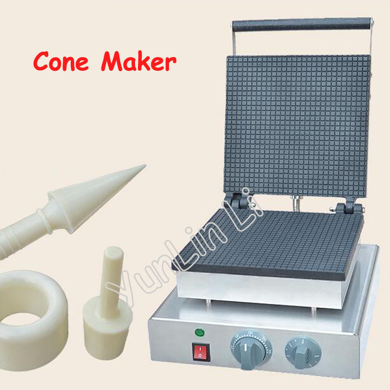 Square Shape Ice Cream Cone Maker Electric Waffle Maker Commercial Cone Making Machine Egg Cone Roll Maker FY-2209 factory price ice cream waffle cone maker round egg roll waffle maker waffle making machine