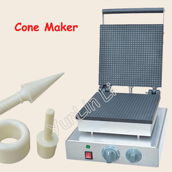 Square Shape Ice Cream Cone Maker Electric Waffle Maker Commercial Cone Making Machine Egg Cone Roll Maker FY-2209