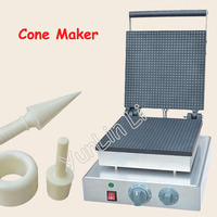 Square Shape Ice Cream Cone Maker Electric Waffle Maker Commercial Cone Making Machine Egg Cone Roll Maker FY 2209