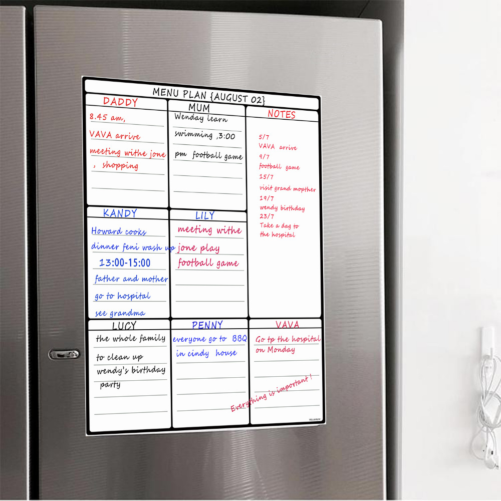 A3 Dry Erase Whiteboard Sheet for Kitchen Fridge Family Organiser Meal Planner Memo Board Shopping List Refrigerator White BoardA3 Dry Erase Whiteboard Sheet for Kitchen Fridge Family Organiser Meal Planner Memo Board Shopping List Refrigerator White Board
