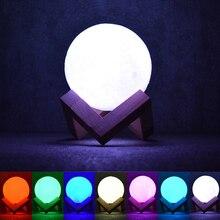 3D Printed Moon light Christmas Kids Baby Children Gifts 8cm 12cm 15cm Touch sensor switch LED table desk night light home decor