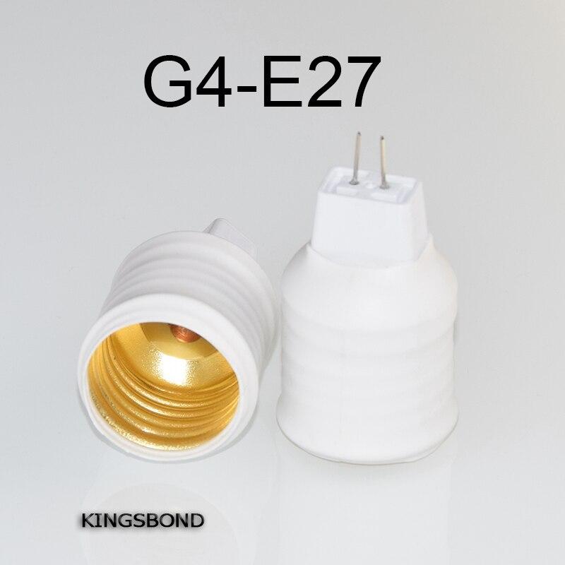 Freeshipping 10pcs/lot portable G4 to E27 led lamp base converter light bulb holder E27 to G4 led socket