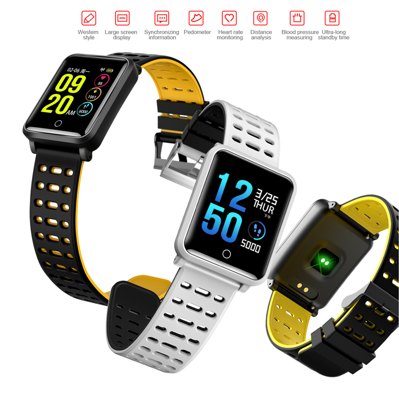 все цены на Color Smart Watch N88 Waterproof bracelet Wristband Fitness Tracker Blood Pressure Heart Rate Smartband For Android IOS Xiaomi онлайн