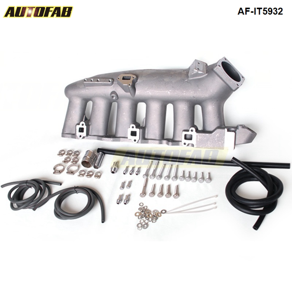 US $100 7 5% OFF|Cast Aluminum Turbo Intake Manifold For Nissan RB25 ECR33  Jdm high Performance AF IT5932-in Intake Manifold from Automobiles &