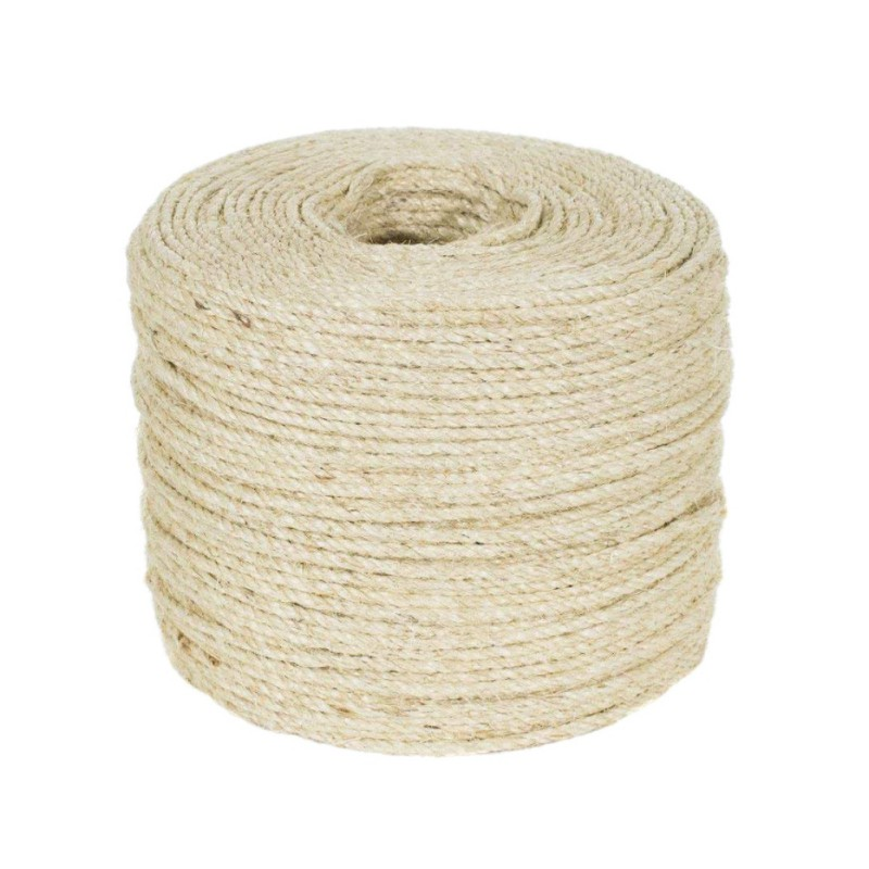 Cat Educational Repellents 50m Natural Sisal Rope Durable Diy Making Desk Chair Legs Cat Scratching Post Toy Bingding Material For Cat Sharpen Claw Cat Supplies
