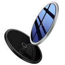Портативное Мобильное Беспроводное зарядное утройство для телефона диск из алюминиевого сплава 10 Вт высокой мощности безопасность Интеллектуальная отключение питания ремесла подарок стандарт QI