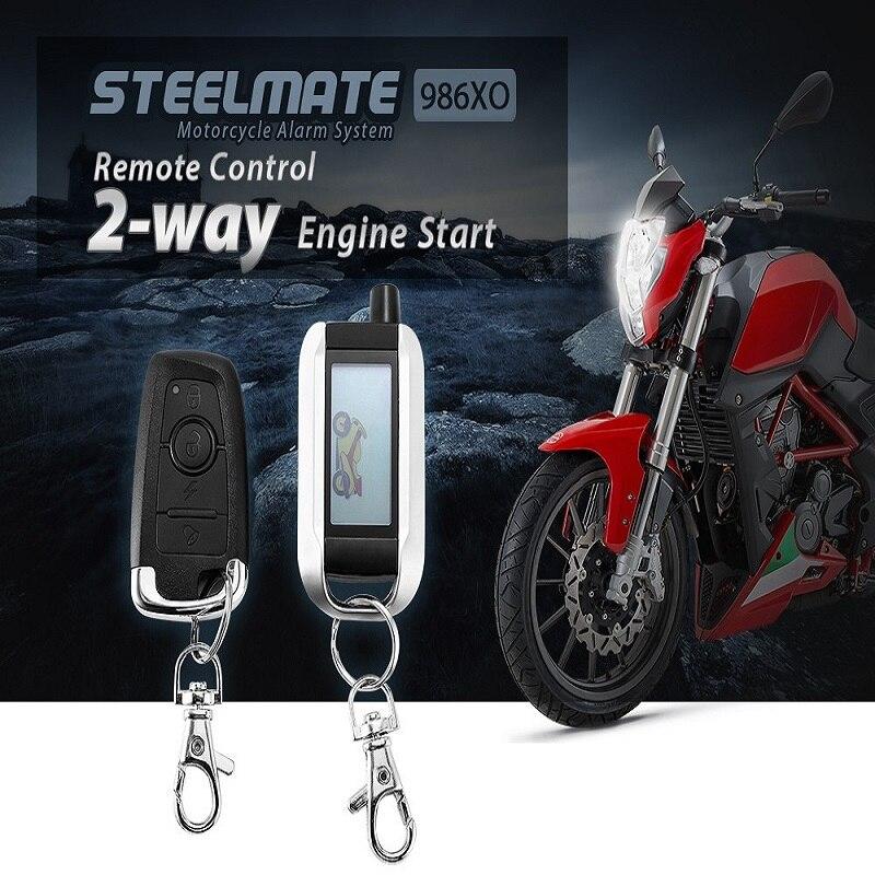 imágenes para Steelmate 986XO Motocicleta Antirrobo Sistema de Alarma de Seguridad de $ number vías LCD Transmisor de Control Remoto de Arranque Del Motor ECU Resistente Al Agua