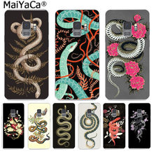 MaiYaCa Animal The Snake and Fern Painted Phone Cases Fashion for Samsung S9 S9 plus S5 S6 S6edge S6plus S7 S7edge S8 S8plus(China)