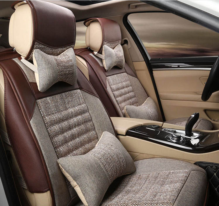New Luxury car cushion seasons pad Cover For Cars Seat Pad with Neck Back pillow