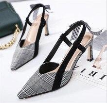 ZOUDKY 2018 летние новые сандалии женские Обувь на высоком каблуке из натуральной кожи в Корейском стиле издание обувь