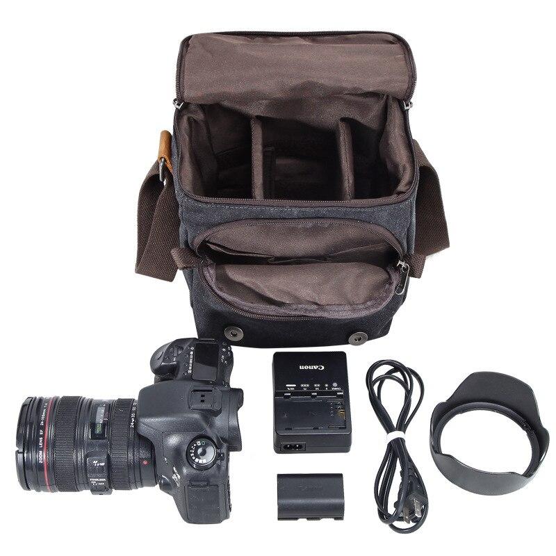 Sac Appareil Photo REFLEX NUMÉRIQUE pour Canon EOS 200D 100D 77D 600D 700D 750D 6D 60D 70D 1300D 1200D 1100D Sacs À Bandoulière Imperméables Couverture - 5