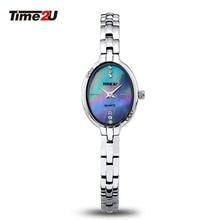 Time2U Lady Fashion Mother Of Pearl Dial Business Small Dial Women Quartz Watch Wristwatch