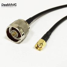 Wifi Antenna Extension Cable RP SMA Male plug To N Type Male pigtail adapter RG58 100CM High Quality Wholesale