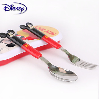 Disney Tableware Children Learn Chopsticks Baby Training Chopsticks Auxiliary Chopsticks Practice Chopsticks Spoon Set фото