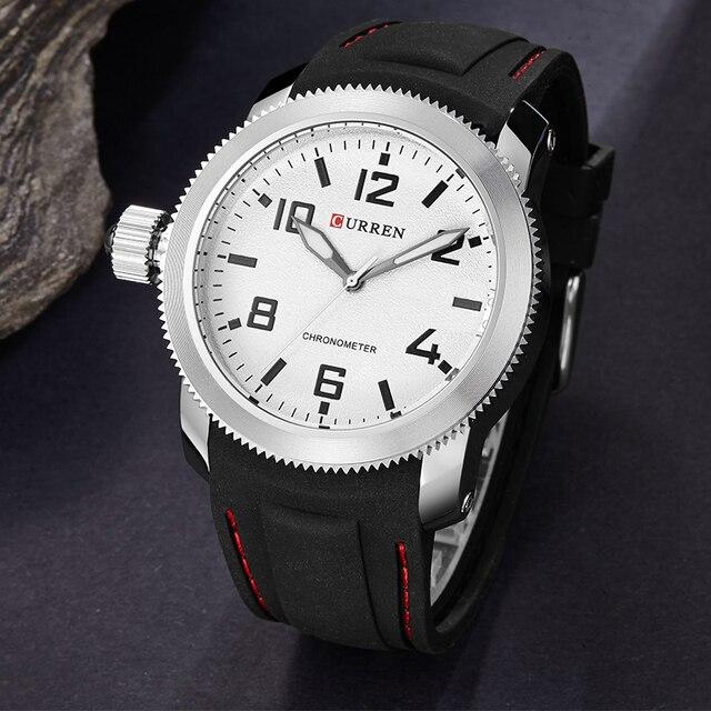 Curren Relojes Hombre left-hander Wrist watch quartz men luxury famous brand Quartz Clock Vogue men Wristwatch rubber new 3