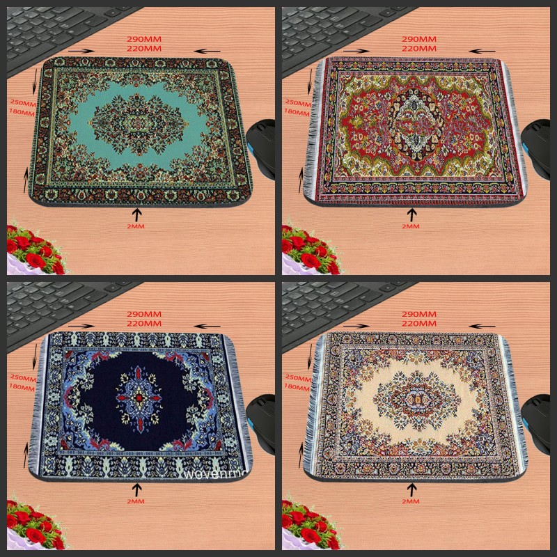 2017 Persian Carpet New Arrival Customized Rubber Gaming Mouse Pad Computer Notebook Non-Slip Mousepad 18*22/25*20/29*25*2cm