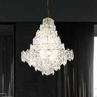 Modern Crystal Glass Chandelier European LOFT Chandeliers Lights Fixture Home Indoor Lighting Dining Room Restaurant LED Lamps