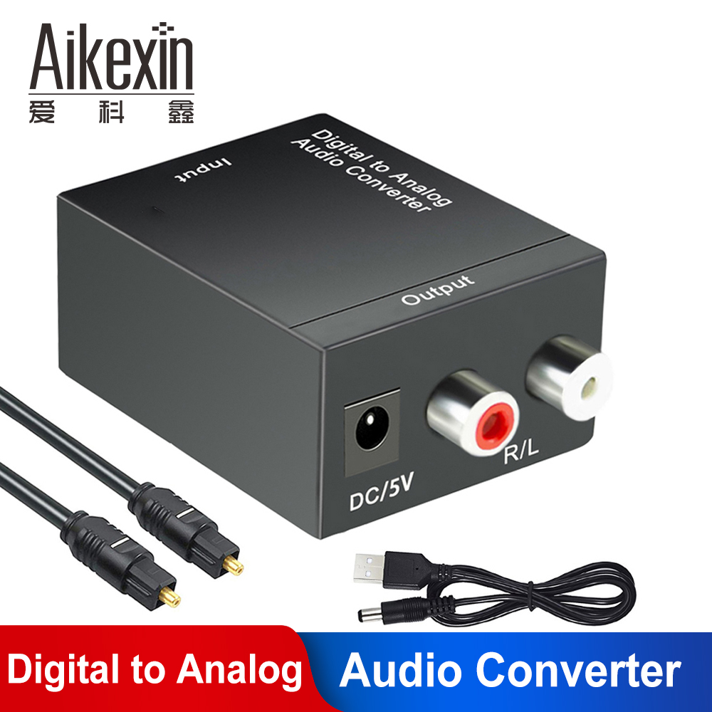 DAC Digital Optical Coaxial Toslink to Analog Stereo RCA Audio Converter TV Box