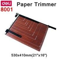 [ReadStar] Deli 8001 ручной триммер для бумаги 530x410 мм (21 x 16) Большой триммер для бумаги с регулируемым размером резки