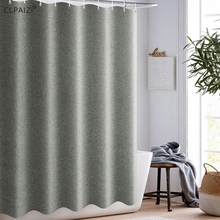 CLPAIZI Imitation Linen Bathroom  Shower Curtain Free Punching Waterproof Mildew Thickening Bath 120 Wide 180 high D30