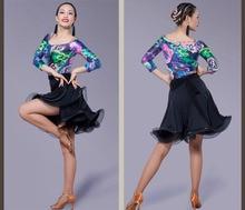 ラテンダンスのドレスセクシーな絹のようなベルベットラテン女の子フリンジ社交スカートタンゴドレスサルサローブデdanseラテン語でfilles danzaラテン