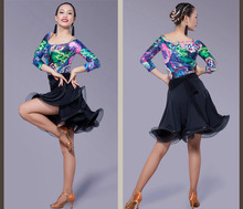 Latin Dance Dress Sexy Silky Velvet Latin Girls Fringe Ballroom Skirt Tango Dress salsa robe de danse latine filles danza latino
