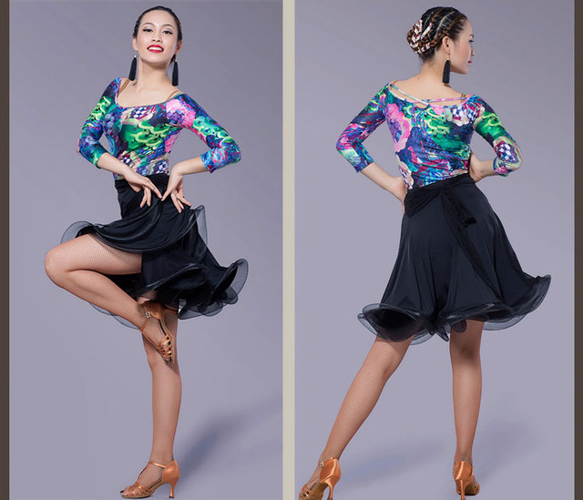337c5554c9e Latin Dance Dress Sexy Silky Velvet Latin Girls Fringe Ballroom Skirt Tango  Dress salsa robe de danse latine filles danza latino
