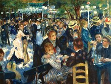 wall art canvas painting figure posters Imagich Top 100 prints Ball at the Moulin De La Galette, 1876  By: Pierre-Auguste Renoir