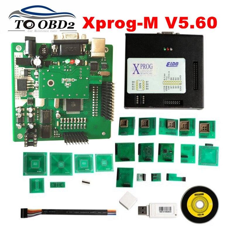 Prix pour Boîte en métal XPROG M V5.60 Complet Adaptateurs Nouvelle Fonction Plus autorisation X PROG 5.60 Nouvelle Génération de 5.55 XPROG-M Meilleur qualité