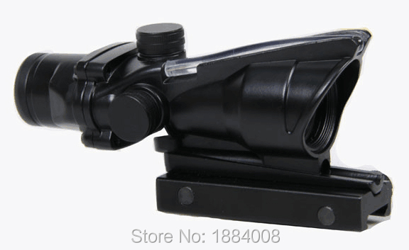 Hot Sale Tactical 4x32 ACOG Style Optical Scope With Red Fiber For Hunting BWR-037R цены онлайн