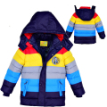 Baby Winter Children outerwear Kids clothes hooded down coat girls boys coat striped baby clothing jackets for boys girls