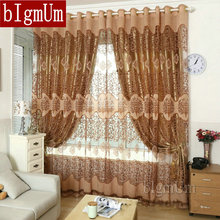 bIgmUm European Royal Curtains Pachira Quality Burnt out Screens Luxury Window Curtains Set Full Light Shading