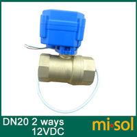 1pcs Motorized Ball Valve DN20 2 Way Electrical Valve