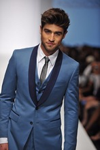Latest Coat Pant Designs Blue Formal Shawl Lapel Custom Groom Jacket Wedding Suits For Men Beach Slim Fit 3 Pieces Terno 507