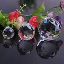 50mm/60mm/70mm/80mm/100mm Clear Cut Crystal Glass Faceted Ball Gazing Ball Crystal Sphere Prisms Suncatcher Home Hotel Decor