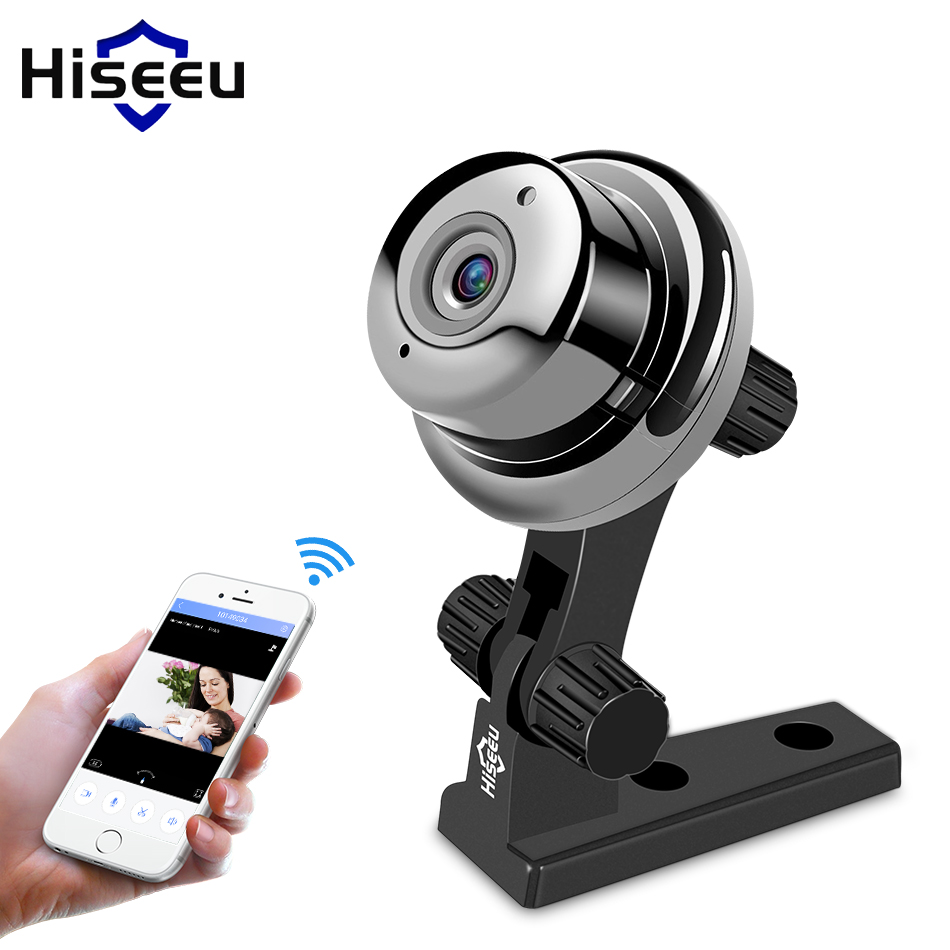 Hiseeu mini fisheys IP Camera 720P day Night Vision 360 cctv camera panorama video Surveillance Home Security wi-fi baby monitor