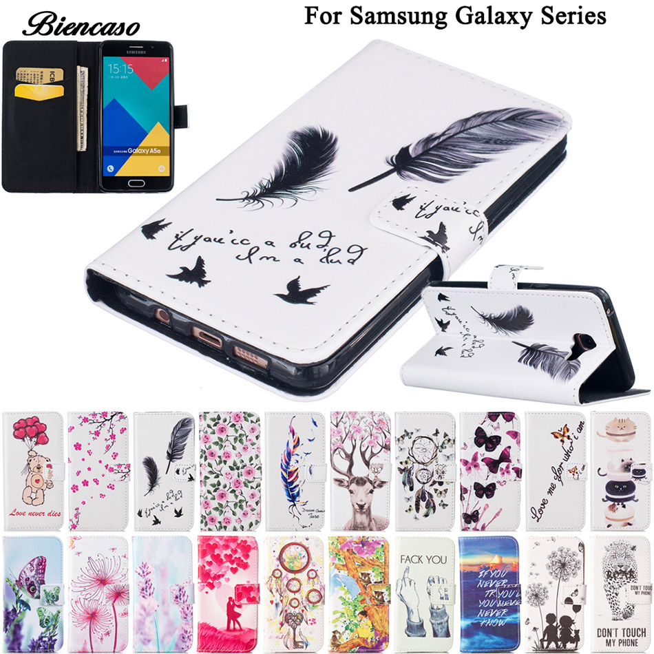 Galleria fotografica Flower Leather Case For Samsung Galaxy J3 Prime J5 A3 A5 2017 J510 J320 SM-A320F A510 Wallet Bag Cases Card Slot Phone Cover B00