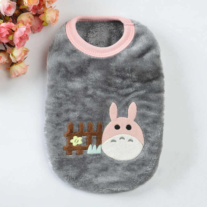Pet Costume New Born Puppy Dog Cat Clothes Winter Warm Fleece Cat Cartoon Vest Hoodies Doggie Small Animals Christams Clothing