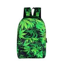 Mochila con impresión de paisaje de hojas Vintage, mochila informal para hombres y mujeres, mochila escolar para adolescentes y niños, mochila de moda para niñas