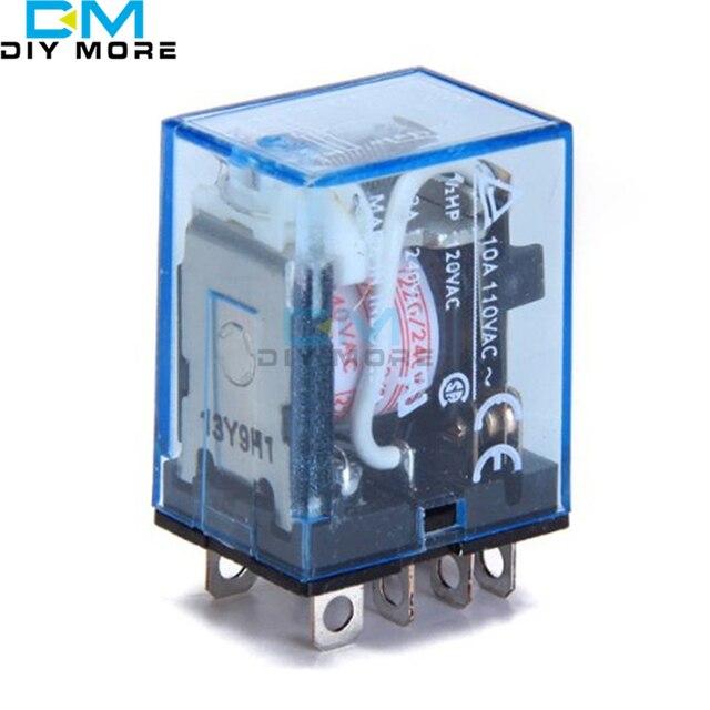 LY2NJ AC 220V Coil 10A 240V Power Relay DPDT Led Lamp High Quality