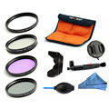 W-TianYa 52mm 55mm 67mm 72mm 77mm 58mm 62mm Caliber UV CPL FLD ND4 Filter Kits for Nikon Canon Pentax Sony DSLR Camera