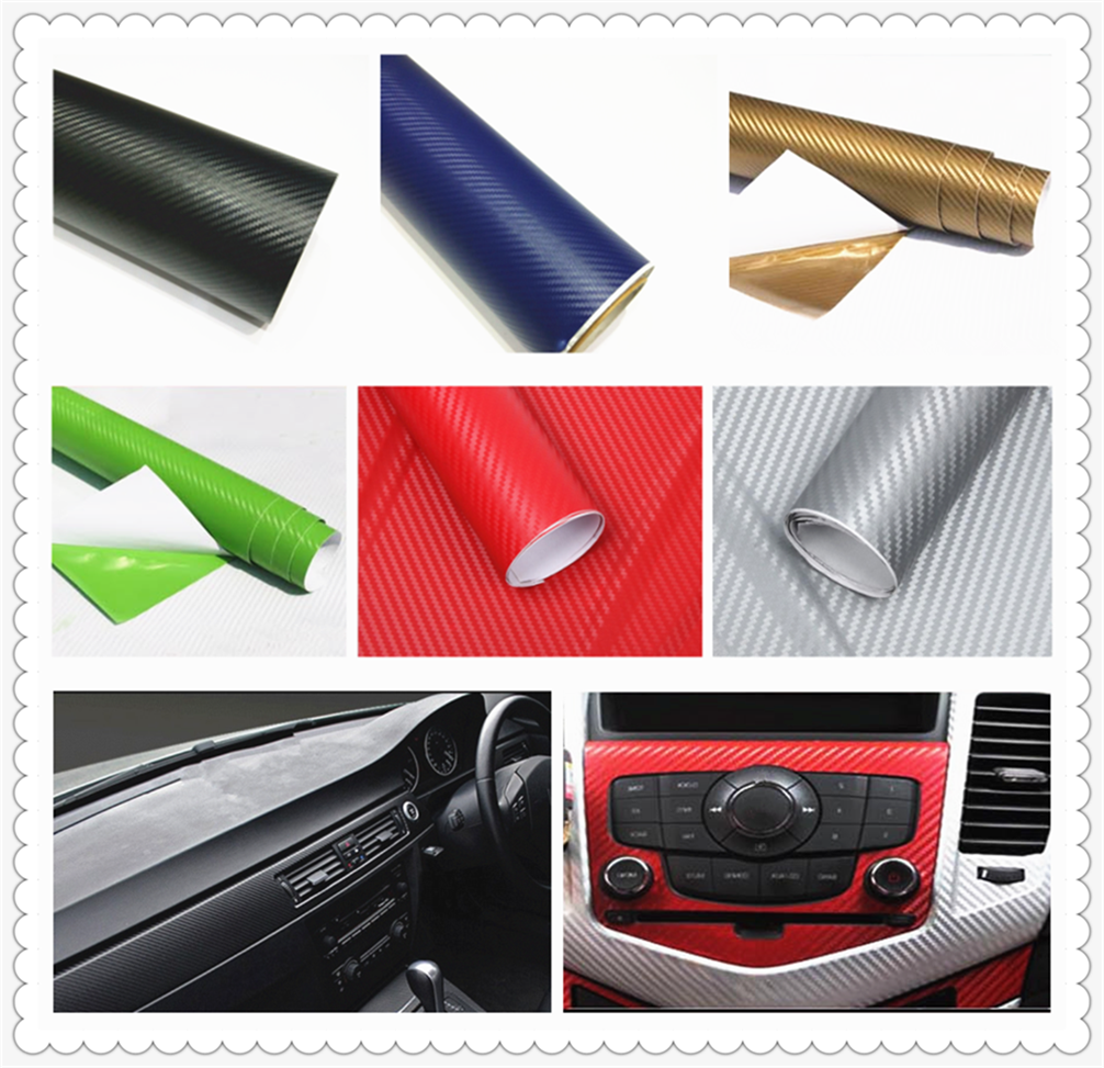 127cmx10cm car carbon fiber film waterproof DIY decoration for BMW 1 Series 3 Series <font><b>5</b></font> Series 6 Series 7 Series image