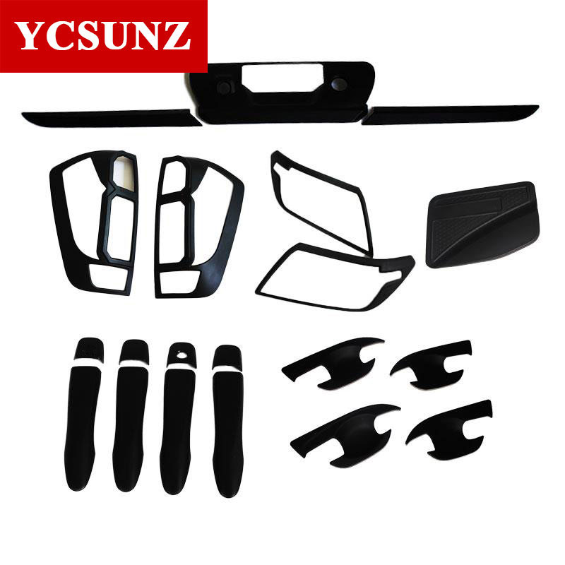 2014-2018 For Nissan Navara Frontier Np300 D23 Accessories Black Kit Full Set For Nissan Frontier Navara 2017 Car Styling Ycsunz turbo repair kit rebuild oil rhf4h vn3 14411 vk500 14411vk500 vb420058 for nissan navara frontier md22 2 5l x trail yd22eti 2 2l