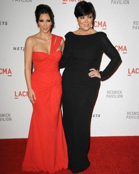 Kim Kardashian rouge une épaule robes de célébrité pleine longueur plissée fermeture éclair dos robes de soirée formelles grande taille 2018 robe de soirée