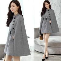 Women's jacket 2018 NEW Fashion Women's Warm Sleeveless Woolen Cloak Blend Loose Autumn Winter Cape Coat Poncho Cardigan Cloak