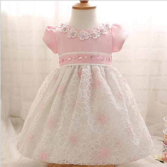bbf3c1ad015f Elegant Lace Baby Girls Kids Baptism Dress Princess Wedding Pageant ...
