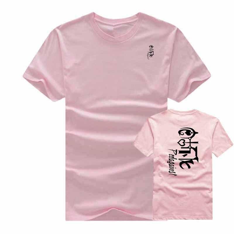 mens printed t shirt short summer drees short sleeve brand tshirt women fashion cotton printed Black-and-white tide t-shirt XXL