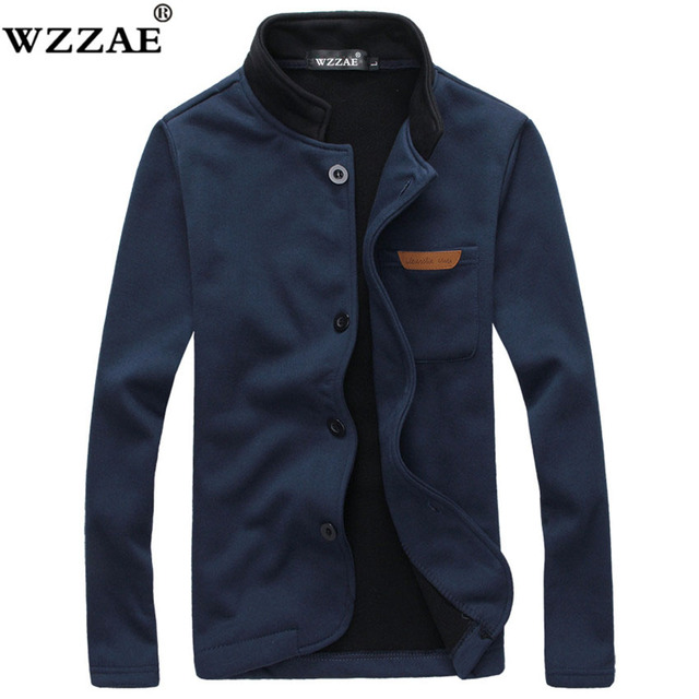 Men Jacket Plus Size M-5XL 2018 Brand New Fashion Stand Collar Men Jackets Autumn And Winter Casual Men's Fleece Coat