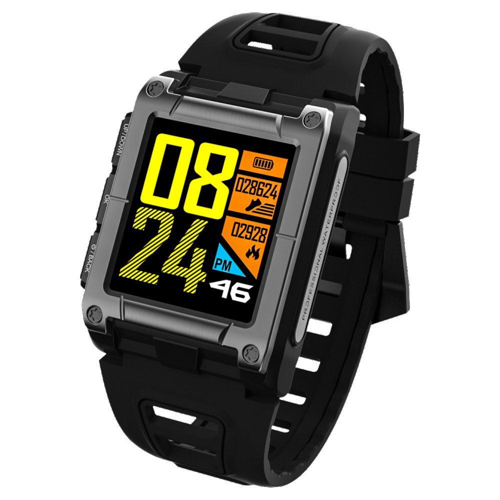DoubleX S929 GPS Sport IP68 Waterproof Swimming Smart Watch Heart Rate Monitor Thermometer Altimeter Color Screen Smartwatch